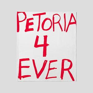 petoria_black Throw Blanket