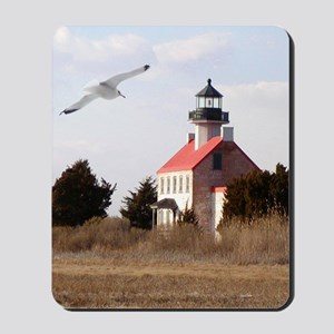 East Point  Light  House 14x10 Large Fra Mousepad