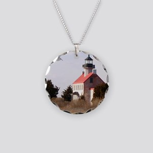 East Point  Light  House 14x Necklace Circle Charm