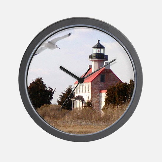 East Point  Light  House 14x10 Large Fr Wall Clock