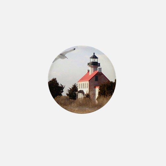 East Point  Light  House 14x10 Large F Mini Button