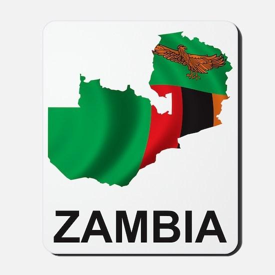 2-MapOfZambia1 Mousepad