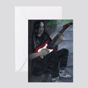 16smallnameGrungeStillRocks Greeting Card