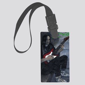 16smallnameGrungeStillRocks Large Luggage Tag