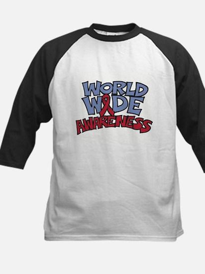 Worldwide Awareness Kids Baseball Jersey