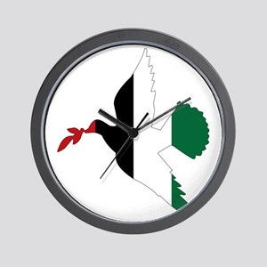 Peace in Palestine Wall Clock