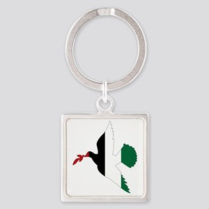 Peace in Palestine Square Keychain