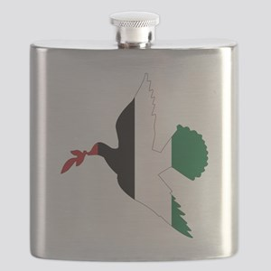 Peace in Palestine Flask