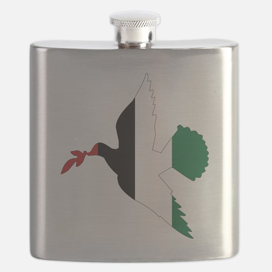 Peace in Palestine Flask