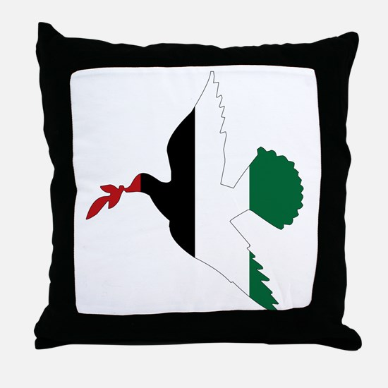 Peace in Palestine Throw Pillow