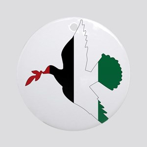Peace in Palestine Round Ornament