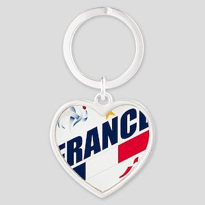 france a Heart Keychain