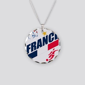 france a Necklace Circle Charm