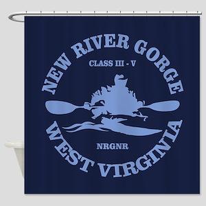 New River Gorge (kayak) Shower Curtain