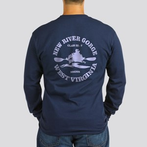 New River Gorge (kayak) Long Sleeve T-Shirt