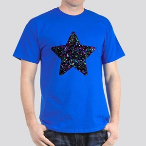 Dark T-Shirt Mosaic Glitter Star 1