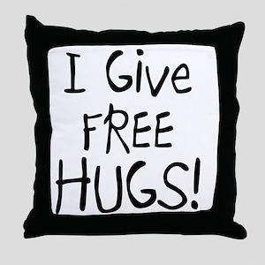I Give Free Hugs Throw Pillow