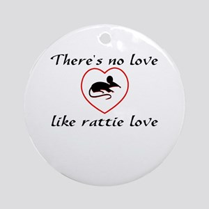 Rat Love Ornament (Round)