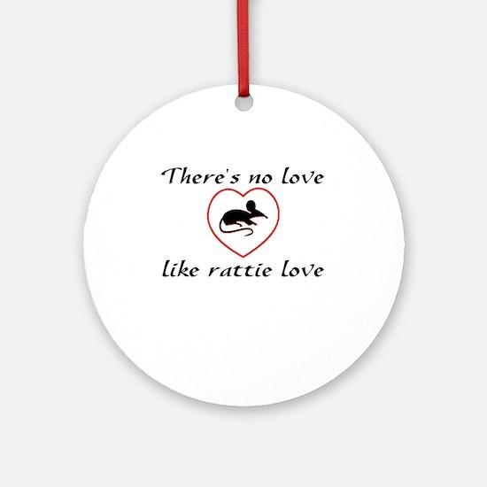 Rat Love Ornament (Round)