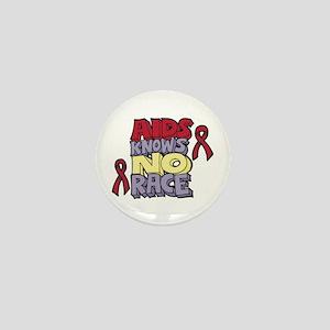 AIDS Knows No Race Mini Button