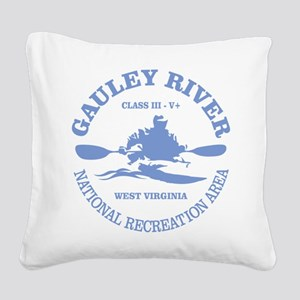 Gauley River (kayak) Square Canvas Pillow