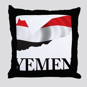 MapOfYemen1 Throw Pillow
