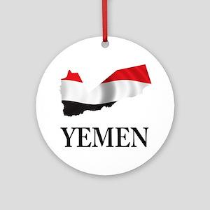 MapOfYemen1 Round Ornament