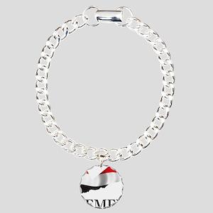 MapOfYemen1 Charm Bracelet, One Charm