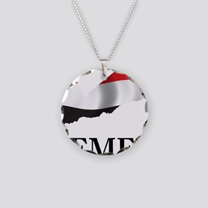 MapOfYemen1 Necklace Circle Charm