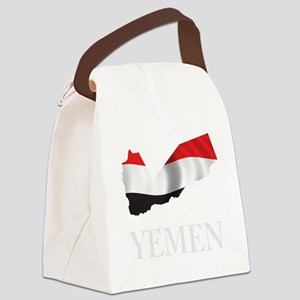 MapOfYemen1Bk Canvas Lunch Bag