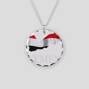 MapOfYemen1Bk Necklace Circle Charm