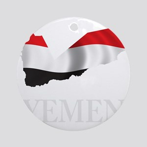 MapOfYemen1Bk Round Ornament