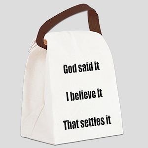 Eden alive - god said 2 Canvas Lunch Bag