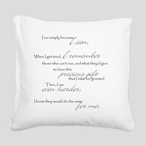 because I can Square Canvas Pillow