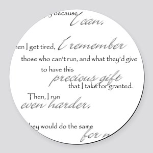 because I can Round Car Magnet
