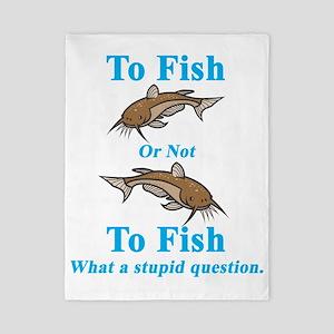 Catfish Cyan To Fish or Not to Fish Twin Duvet