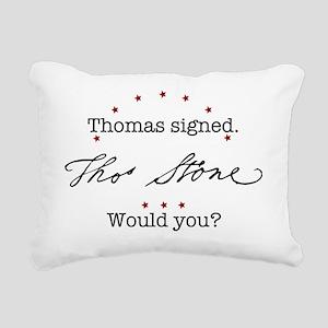 StoneShirtFront Rectangular Canvas Pillow