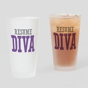 Resume DIVA Drinking Glass