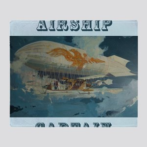 Airship Eagle Throw Blanket