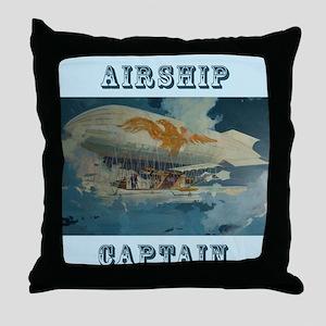 Airship Eagle Throw Pillow