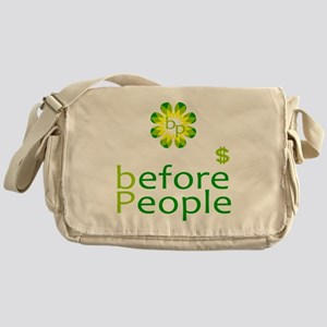 Big Profits before people Messenger Bag