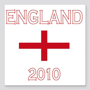 """England world cup flag Square Car Magnet 3"""" x 3"""""""