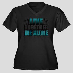 live-togethe Women's Plus Size Dark V-Neck T-Shirt