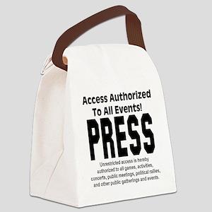 press_pass Canvas Lunch Bag