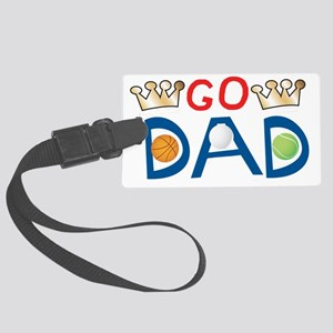 3-DadText4 Large Luggage Tag