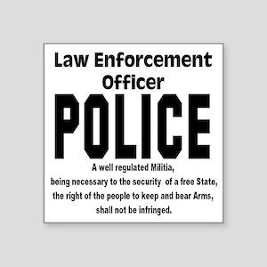 """police Square Sticker 3"""" x 3"""""""