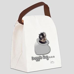 Brussels Griffon Gray Doggie Bag Canvas Lunch Bag