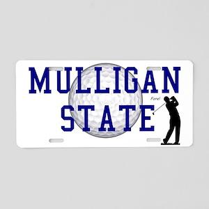 MULLIGAN STATE a Aluminum License Plate
