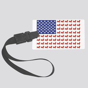 DOXIE-FLAG-Tee Large Luggage Tag