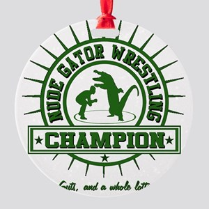 GATOR WRESTLING CHAMPIONg Round Ornament